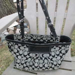 Coach F14281 Gallery  Black Leather tote bag
